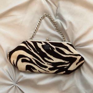 Handbags - Small Satchel. Zebra print cream & brown